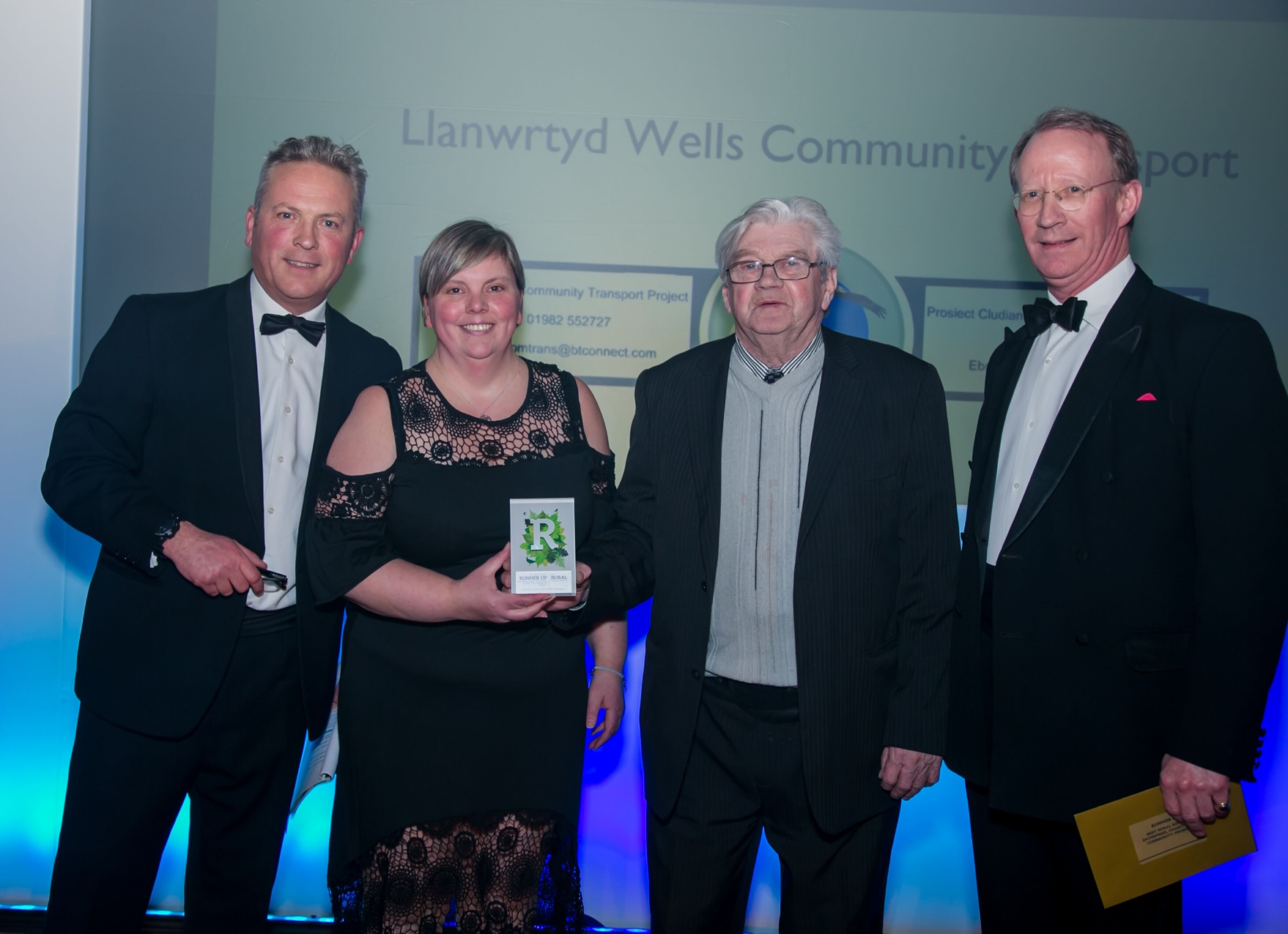 Rural Business Award 2020 accepted by Llanwrtyd Wells Community Transport