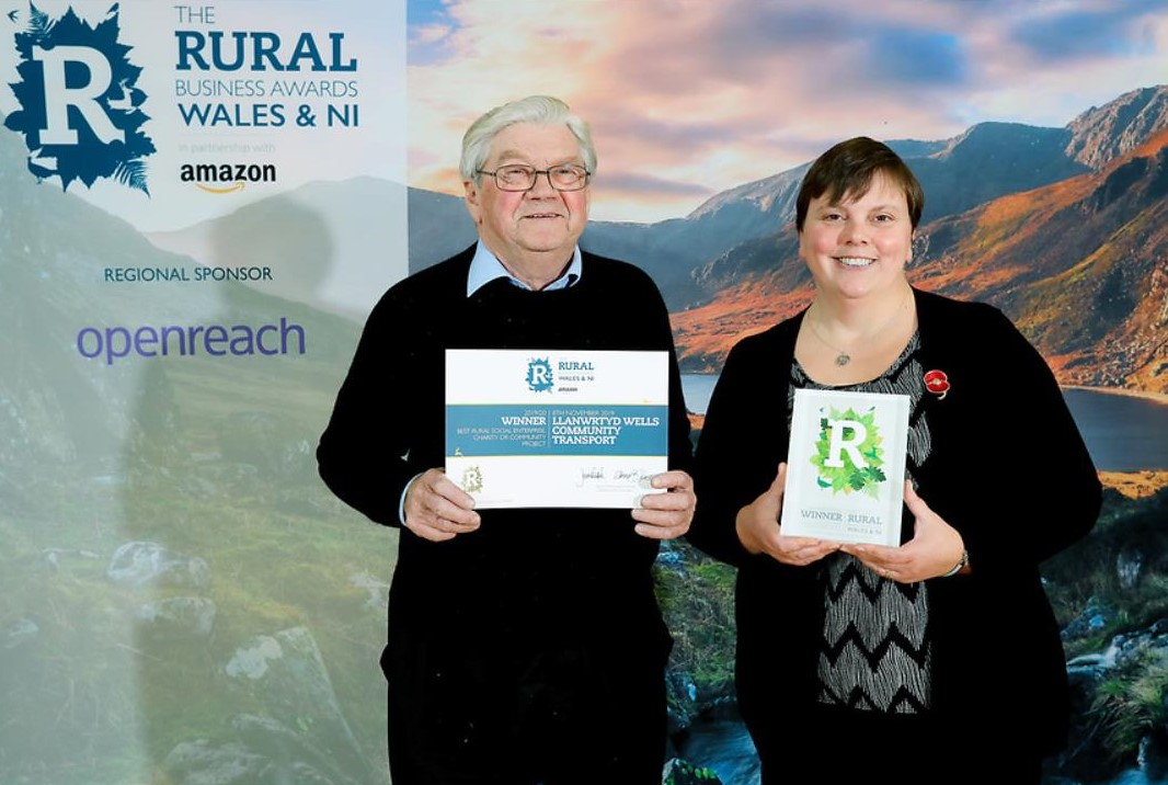 Rural Business Award accepted by Dave Brown and Laura Burns